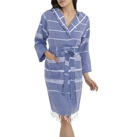 BATHROBE KUMSAL  WITH HOOD  56530 ROYAL BLUE