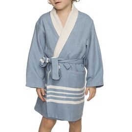 BATHROBE KIDDO TERRY KS  - AIR BLUE