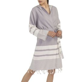 BATHROBE  TUBA WITH HOOD  59627 / L.GREY