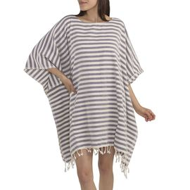DRESS  SUMMER -  54879 DARK PURPLE STRIPES
