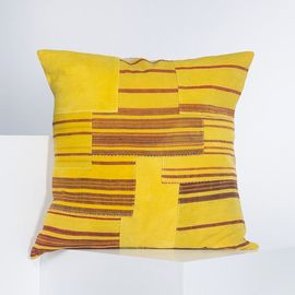 PATCHWORK CUSHION COVER   YELLOWISH  60 x 60 cm