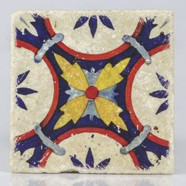 COASTER TRAVERTINE TILE - 4 STAR FLOWER