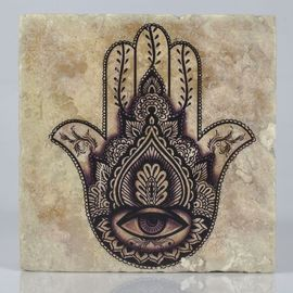 COASTER TRAVERTINE TILE - HAND OF FATIMA THIN