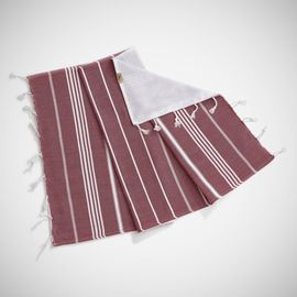 ANI - MINI DOUBLE FACE TOWEL / BORDEAUX