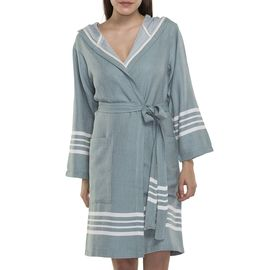 BATHROBE SUN  WITH HOOD W/O FRINGES  / 58371 ALMOND GREEN