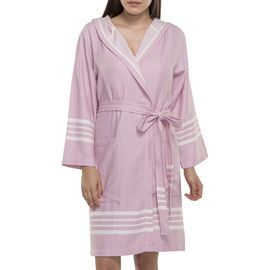 BATHROBE SUN  WITH HOOD W/O FRINGES  / 4691 ROSE PINK
