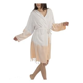 BATHROBE TIE DYE   - BASE NATURAL BOTTOM 4114 MELON