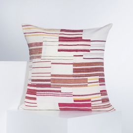PATCHWORK CUSHION COVER   WHITE  60 x 60 cm