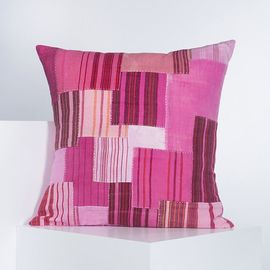 PATCHWORK CUSHION COVER   PINK  60 x 60 cm