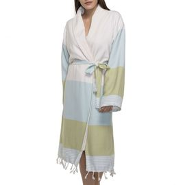 BATHROBE NIL 3   /  58098 MINT - 58426 GREEN WITH NATURAL TERRY LINING