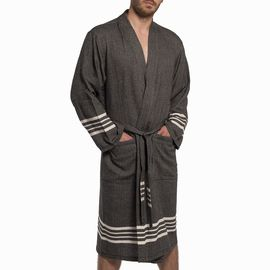 BATHROBE KREM SULTAN MAN -  59867 BLACK   KIMONO COLLAR