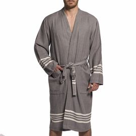 BATHROBE KREM SULTAN MAN -  59795 DARK GREY   KIMONO COLLAR