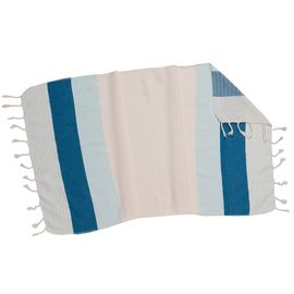 MINI TOWEL / PESHKIR KREM SULTAN 3C  - ICE BLUE / PETROL