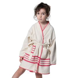 BATHROBE KIDDO COBAN  KS  - FUCSHIA STRIPES