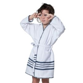 BATHROBE KIDDO COBAN  WS - WHITE/NAVY